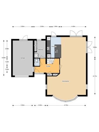 Floorplan - Broekstraat 109, 6546 AA Nijmegen