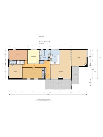 Floorplan - Vinkenlaan 34, 6581 CL Malden