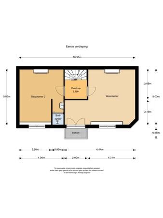 Floorplan - Parkweg 88, 6511 BK Nijmegen