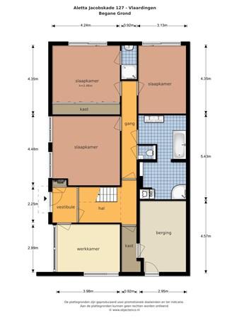 Floorplan - Aletta Jacobskade 127, 3137 TJ Vlaardingen