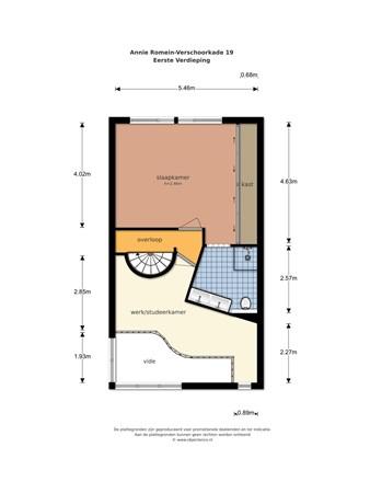 Floorplan - Annie Romein-Verschoorkade 19, 3137 TR Vlaardingen