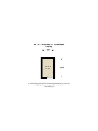 Floorplan - Meester L.A. Kesperweg 5d, 3135 BR Vlaardingen