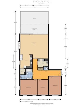 Floorplan - Graaf Arnulfstraat 28, 3132 JC Vlaardingen