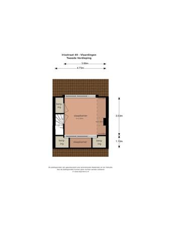 Floorplan - Irisstraat 49, 3135 HL Vlaardingen