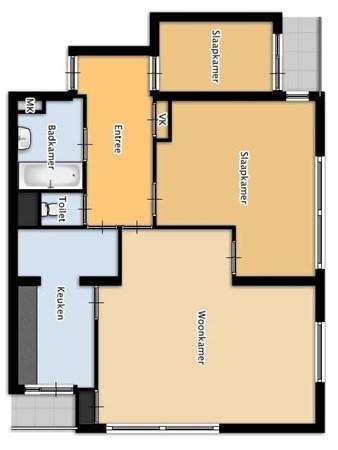 Floorplan - Boerhaavestraat 299, 3132 RB Vlaardingen