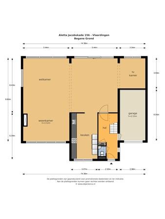 Floorplan - Aletta Jacobskade 156, 3137 TD Vlaardingen