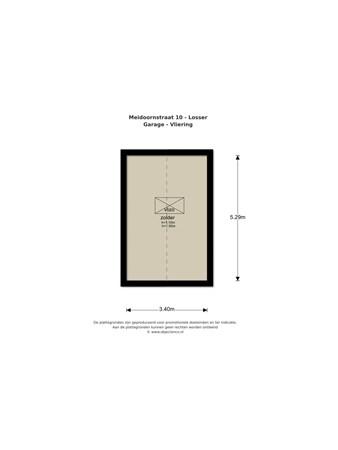 Floorplan - Meidoornstraat 100, 7581 XG Losser