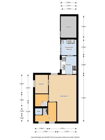 Floorplan - Landmansweg 118, 7557 XJ Hengelo