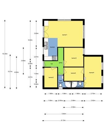 Floorplan - Compierekade 8bij 8, 2404 NA Alphen aan den Rijn