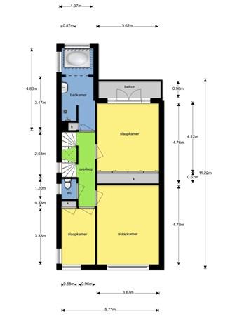 Floorplan - Plaats van Middendorp 15, 2271 VC Voorburg