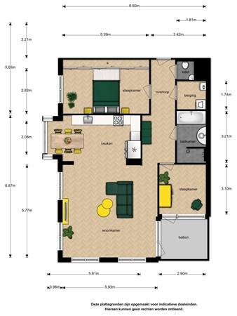 Floorplan - Via Verdi 187, 2272 WE Voorburg
