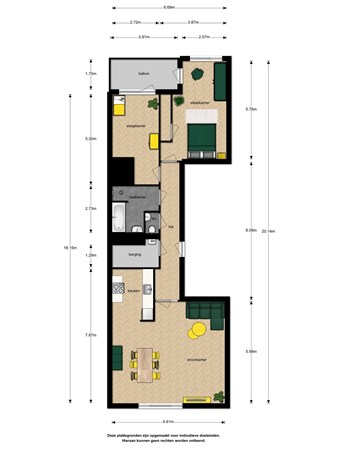 Floorplan - Spinozalaan 39a, 2273 XC Voorburg