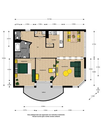 Floorplan - Noteboompark 47, 2273 LB Voorburg