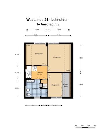 Floorplan - Westeinde 21, 2451 VZ Leimuiden
