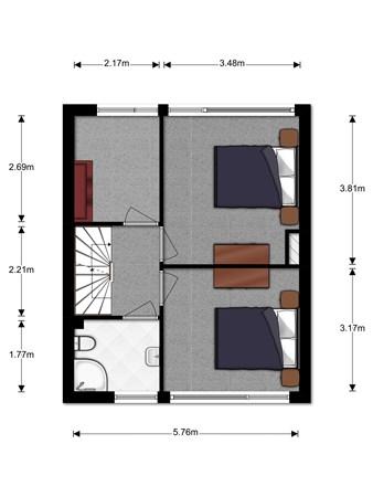 Floorplan - Schoutendreef 14, 2411 GC Bodegraven