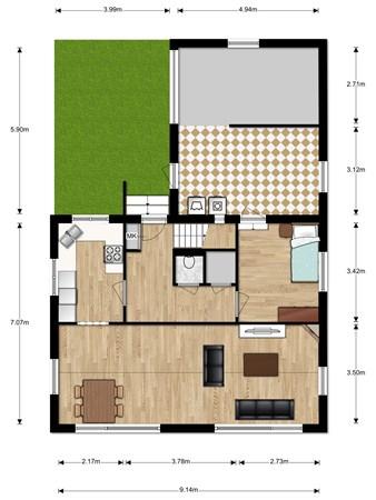 Floorplan - De Bree 30, 2415 BG Nieuwerbrug aan den Rijn
