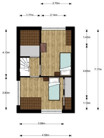 Floorplan - Beiershof 65, 2411 JS Bodegraven