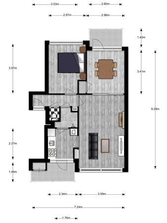 Floorplan - Gravenstein 64, 2411 GM Bodegraven