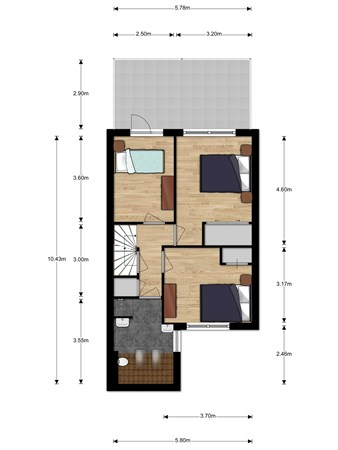 Floorplan - Koolmees 12, 2411 MV Bodegraven