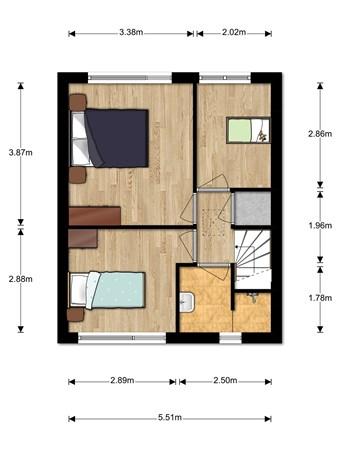 Floorplan - Eendrachtsweg 26, 2411 VL Bodegraven