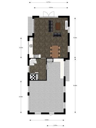 Floorplan - Weijpoort 34A, 2415 BW Nieuwerbrug aan den Rijn