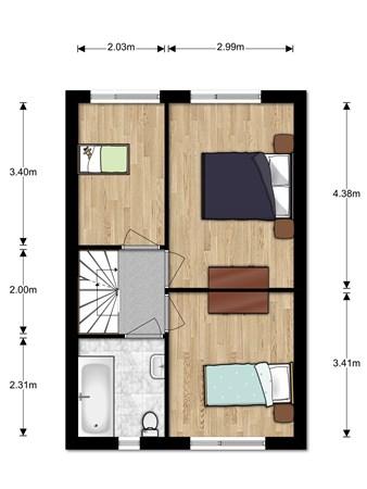 Floorplan - Kavelpad 11, 2411 WK Bodegraven