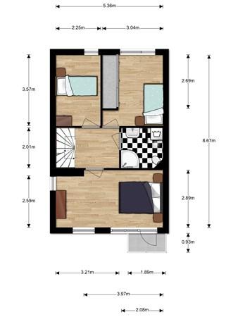 Floorplan - Hoornblad 29, 2411 DM Bodegraven