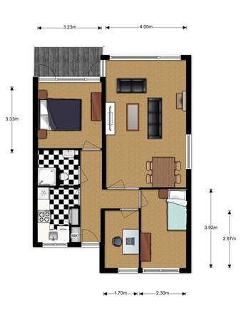 Floorplan - Bunchestraat 30, 2811 SJ Reeuwijk