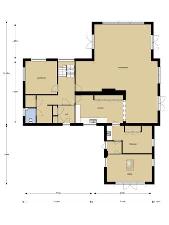 Floorplan - Oud-Bodegraafseweg 107A, 2411 HZ Bodegraven