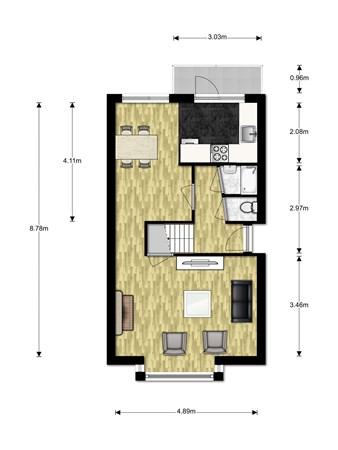 Floorplan - Dammekant 119, 2411 CC Bodegraven