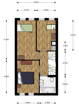 Floorplan - André De Jongstraat 10, 2411 WS Bodegraven