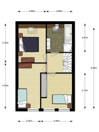 Floorplan - Rond De Watertoren 3, 2411 SE Bodegraven