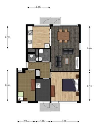 Floorplan - Wilgenoord 109, 2411 TD Bodegraven