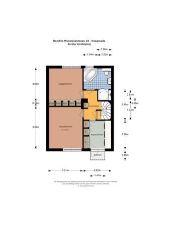 Floorplan - Hendrik Meijerplantsoen 18, 2355 BN Hoogmade