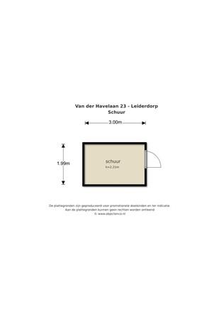 Floorplan - Van der Havelaan 23, 2353 WV Leiderdorp