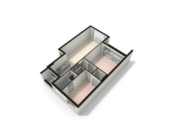 Floorplan - Corantijnstraat 4, 2315 VR Leiden