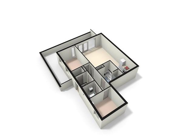 Floorplan - Splinterlaan 218, 2352 TP Leiderdorp