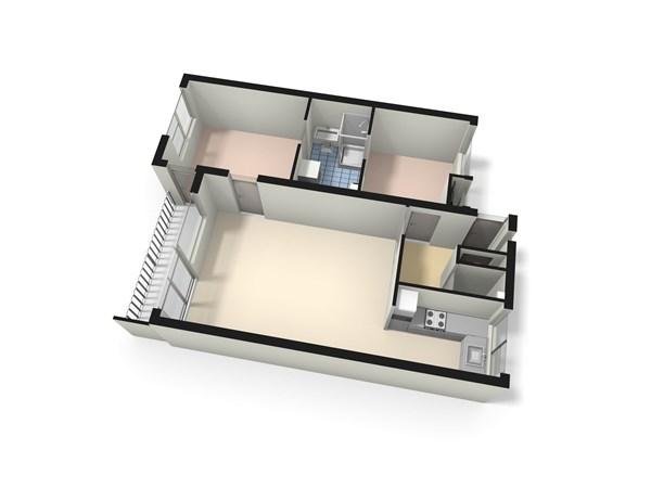 Floorplan - Jaap ter Haarsingel 2e, 2353 LV Leiderdorp