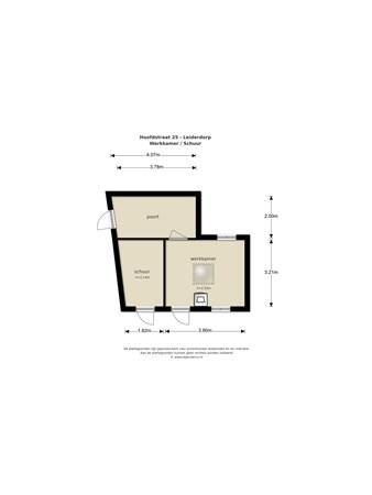 Floorplan - Hoofdstraat 25, 2351 AA Leiderdorp
