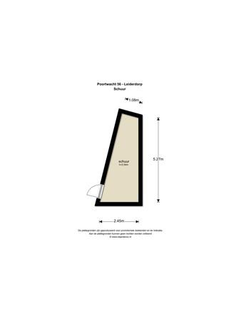 Floorplan - Poortwacht 56, 2353 EB Leiderdorp