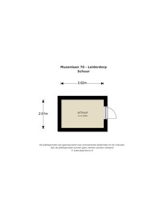 Floorplan - Muzenlaan 70, 2353 KG Leiderdorp