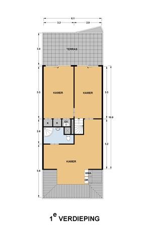 Floorplan - Achthovenerweg 8A, 2351 AZ Leiderdorp