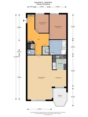 Floorplan - Voortocht 9, 2353 VA Leiderdorp
