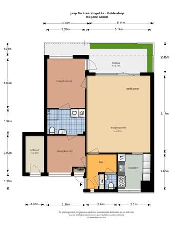 Floorplan - Jaap ter Haarsingel 4a, 2353 LV Leiderdorp