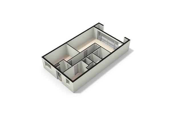 Floorplan - Splinterlaan 204, 2352 TP Leiderdorp