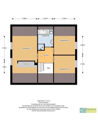 Floorplan - Lijsterbeslaan 8, 2461 DA Ter Aar