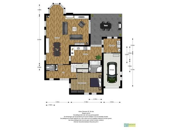 Floorplan - Bosveen 25, 2461 HA Ter Aar