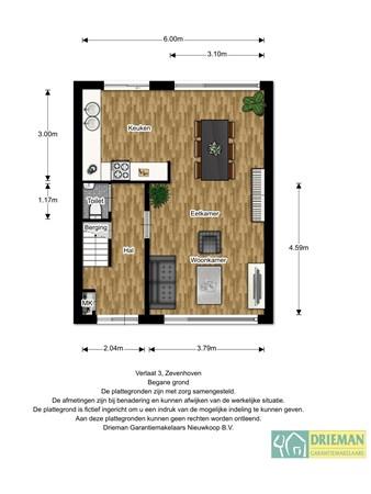 Floorplan - Verlaat 3, 2435 XE Zevenhoven