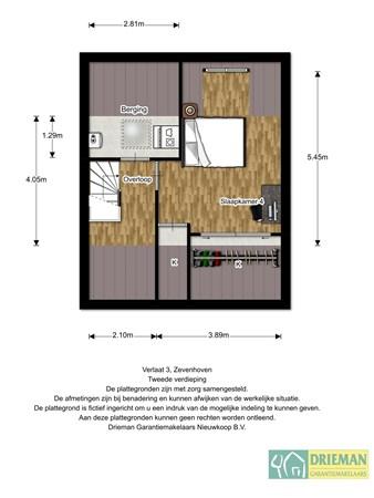 Floorplan - Verlaat 3., 2435 XE Zevenhoven