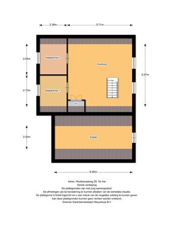 Floorplan - Westkanaalweg 59, 2461 EG Ter Aar